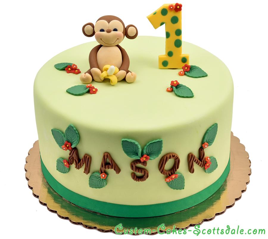 1 Tier Fondant Birthday Cake